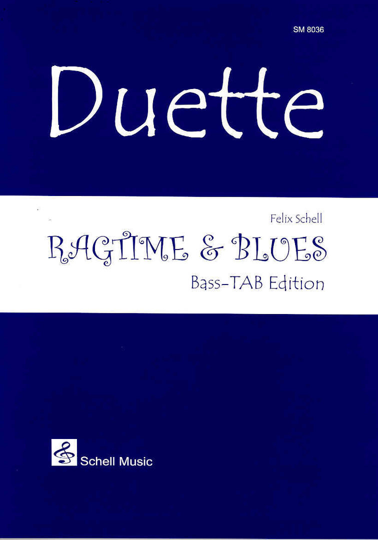 Duette: Ragtime & Blues (Bass-TAB)