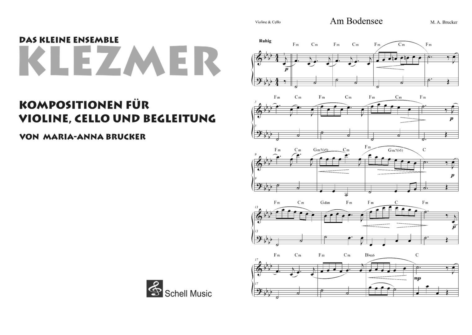 Klezmer - Das kleine Ensemble/ Kompositionen für Violine, Cello und ...
