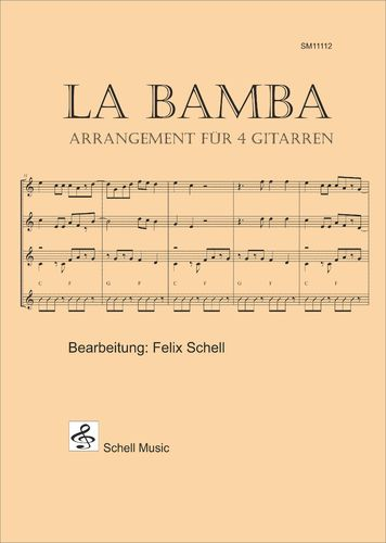 La Bamba - 4 guitars edition (Score & Parts, each 2x)