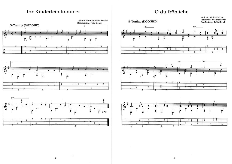 O Tannenbaum Akkorde Gitarre.Open Tuning Weihnachten Noten Tab