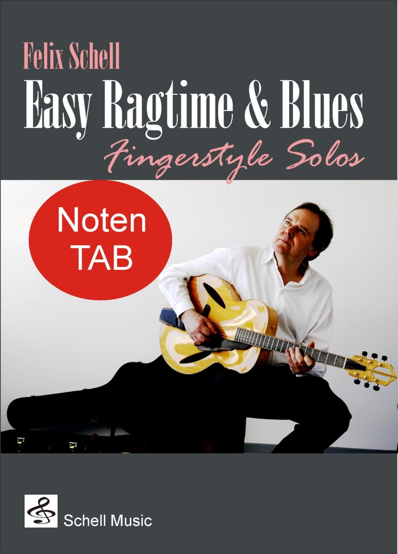 easy ragtime blues for fingerstyle guitar notation tab as pdf download mp3 audio schell. Black Bedroom Furniture Sets. Home Design Ideas