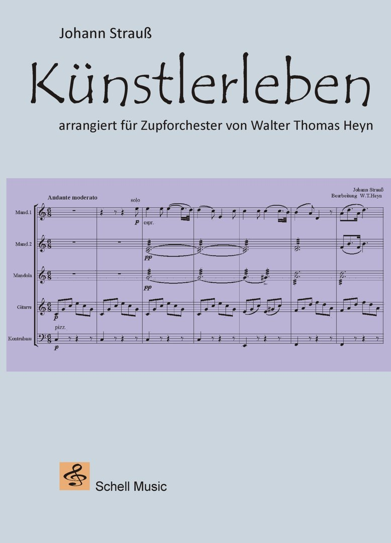 Johann Strauß: Künstlerleben, mandolin orchestra (pdf-Download)